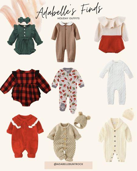Amazon baby holiday outfits sweaters romper   #LTKbaby #LTKHoliday #LTKSeasonal