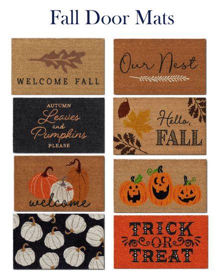 Fall door mats