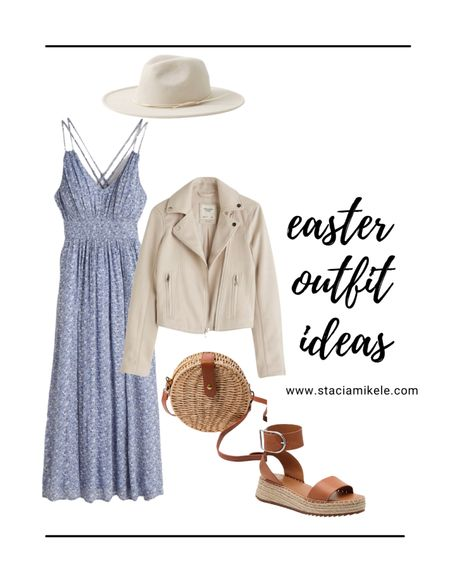 Easter outfit idea Dress Abercrombie  Purse f21 Espradilles from dsw