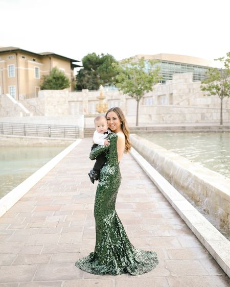 Mommy and me #holiday photos. Shop this #sequin maxi gown http://liketk.it/2H8sy #liketkit @liketoknow.it #LTKholidaystyle #LTKfamily