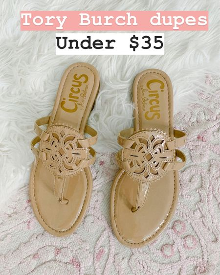 Tory Burch Miller sandal dupes under $35 at Walmart! I recommend sizing up a half size!  http://liketk.it/2N5LU #liketkit @liketoknow.it #LTKshoecrush #LTKunder50