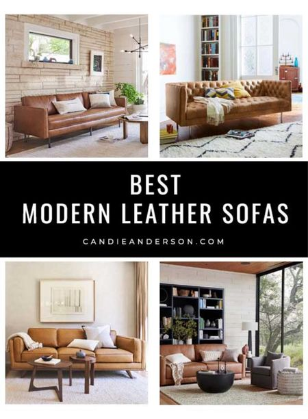 The best modern leather sofas. Modern rustic sofa. Modern contemporary sofa. Midcentury modern sofa. Modern chesterfield leather sofa. Modern living room furniture. ❤️  #LTKhome