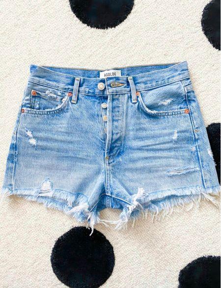 Agolde Parker jean shorts  Sized down one to a 25        Jean shorts, agolde, revolve, Parker shorts, denim shorts, spring style, spring outfit, beach vacation   #LTKtravel #LTKstyletip #LTKSeasonal #LTKtravel #LTKstyletip #LTKSeasonal