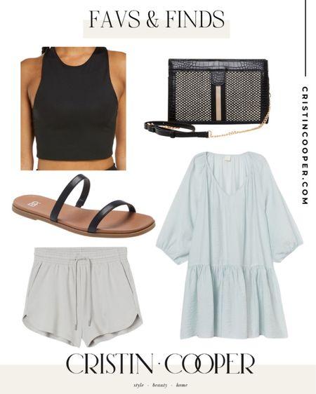 Favs & Finds // Crop top // Purse // Sandals // Dress // Shorts http://liketk.it/3gkKM #liketkit @liketoknow.it