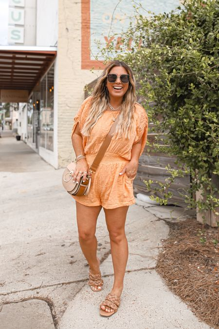 Still hanging onto summer outfits for as long as I can ☀️!! Love this romper. Wearing a small.  #romperstyle #freepeople #fpstyle #amazinfashion #amazonfinds #amazonstyle    #LTKunder100 #LTKshoecrush #LTKtravel