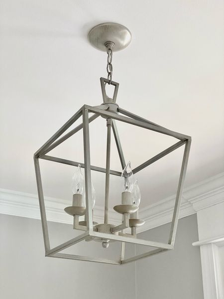 This open pendant is the perfect light for a small entryway! (home decor ideas)    #LTKhome