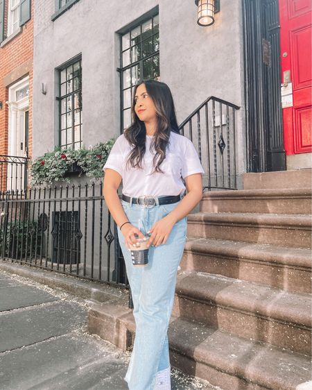 One of my new favorite outfits! Plus this is the best quality white t-shirt that actually isn't see thru totally recommend and the jeans and super comfy✨   http://liketk.it/3mrAS #LTKbacktoschool #LTKstyletip #LTKunder50 #liketkit @liketoknow.it