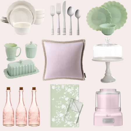 A beautiful blush + green vintage-inspired tablescape 🎀 Everything here is under $70 and available for fast shipping via Walmart. #ad @liketoknow.it http://liketk.it/3kAPZ #liketkit #LTKhome #pinkandgreen #tablescape #grandmillenial #LTKunder50 #LTKunder100