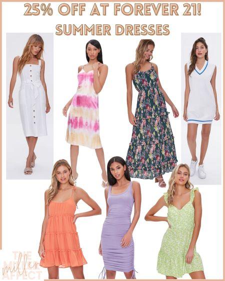 25% off at Forever 21! They have the CUTEST Summer dresses! Use code: LTKxF21  http://liketk.it/3hlAH #liketkit @liketoknow.it #LTKDay #LTKsalealert #LTKunder50