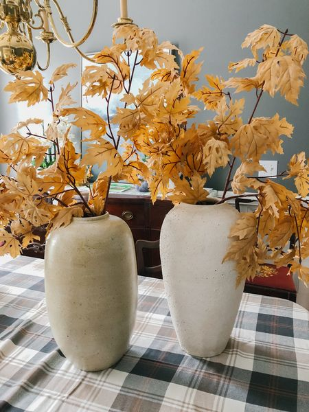 Which beautiful vase should I choose?? The taupe artisan vase or the white textured vase??  #LTKhome