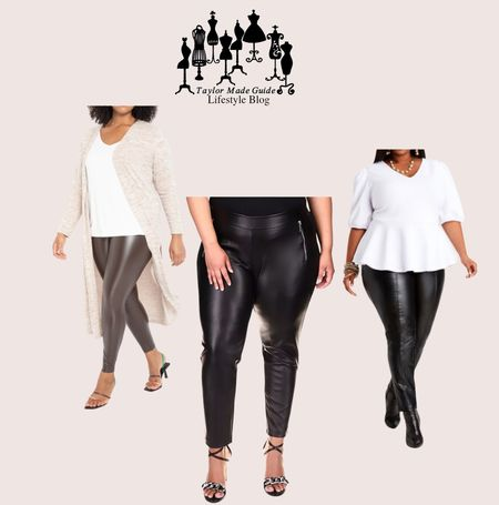 What do you think about these beautiful hot sexy leather leggings.  #LTKcurves #LTKstyletip