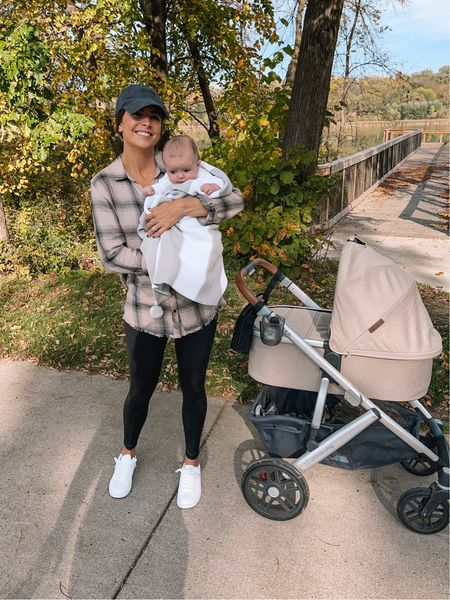 Went on a walk Monday morning with Fritzy and the weather was perfection 🙌🏼🍂 He's cozied up in his @shitthatiknit hand knit baby blanket! (Stroller is the @uppababy VISTA with the bassinet in the Declan color) 🤎 #partner   #LTKGiftGuide #LTKfamily #LTKbaby
