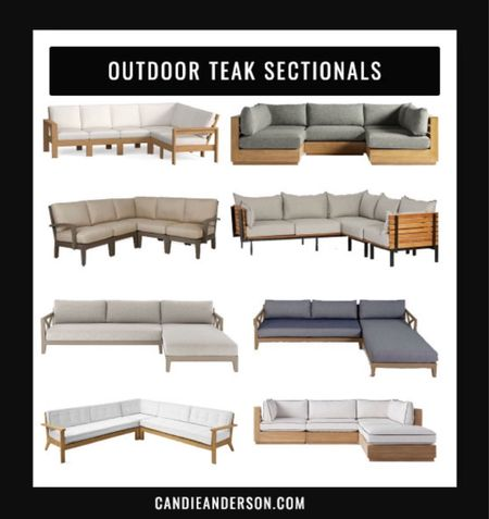 Best outdoor teak sectionals. Gorgeous outdoor sectional. Outdoor furniture. Patio furniture. Patio sectional for working from home, relaxing, and entertaining this summer and for years to come. ❤️   #LTKhome #LTKSeasonal