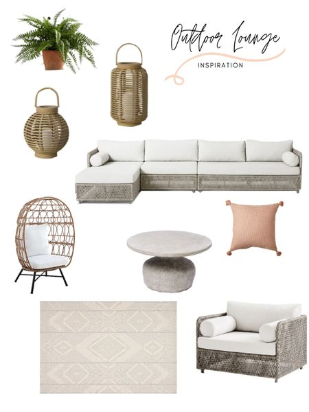 It's patio season and I'm here for it! I'm on tbe hunt for my own patio furniture for our mew deck. This patio furniture inspiration board is giving me all the feels. This outdoor sectional, egg chair and outdoor accent chair sets the tone for this comfy yet modern outdoor lounge area. Shop any of these items: http://liketk.it/3fnZ6 #liketkit @liketoknow.it @liketoknow.it.home @liketoknow.it.family #LTKstyletip #LTKhome #LTKfamily