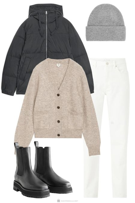 Cozy cardigan | winter outfit | puffer coat | how to weat | outfit inspo | winter ootd | layering http://liketk.it/35ksc @liketoknow.it #liketkit #LTKunder100 #LTKstyletip