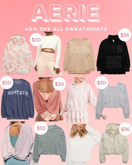 Aerie 40% off all sweatshirts  #LTKunder50 #LTKsalealert #LTKstyletip