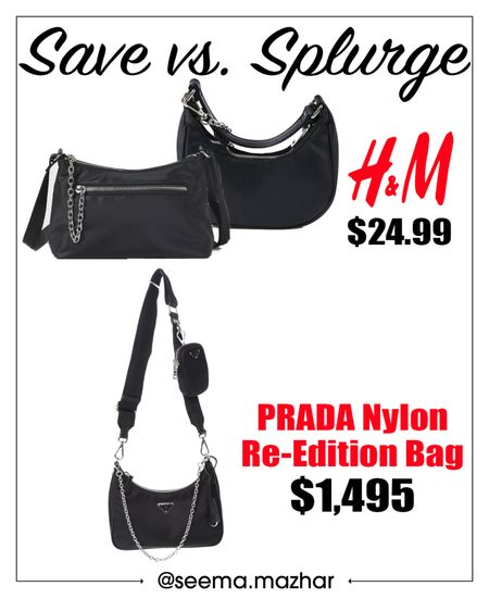 Save vs. splurge | Prada handbags | designer inspired bags http://liketk.it/3hKbb #liketkit @liketoknow.it #LTKitbag #LTKwedding #LTKstyletip