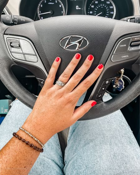 Summer Red Nail Polish: Shade Galactic Fire by Dazzle Dry. The BEST straight leg jeans with tummy control and tons of stretch. True to size/slightly small. Size up if between sizes. Tanning drops in shade medium.   #LTKbeauty #LTKSeasonal #LTKcurves