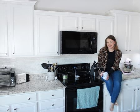 It's been almost a year since we installed our backsplash and I have to say I'm still thoroughly pleased with it. If you didn't know, our backsplash is peel and stick tile! 😲 When quarantine hit last year, I had the itch to do projects but since we were staying put at home, I decided to order these online and see what I thought. Turns out I love them! They have not budged at all, are stuck tight to the wall and unless I told you they were peel and stick, you'd never know! Plus they come with the added benefit that if I ever want to change things up, it will be very easy to do!  . . . To shop the tile and a few other kitchen favorites, follow me in the @liketoknow.it app!  http://liketk.it/37YQe #liketkit