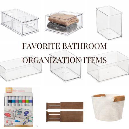 My favorite bathroom organization items from my vanity!   #StayHomeWithLTK #LTKunder50 #LTKhome
