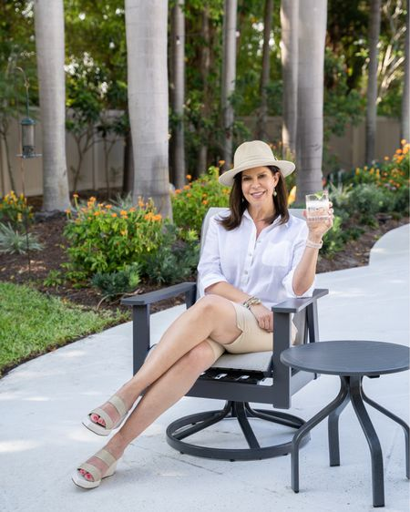 One of my favorite summer looks-classic and comfy. From my hat to my shoes, it's all about neutrals.  Everything is on sale or already well-priced!   http://liketk.it/3gnNc #liketkit @liketoknow.it    Shop my daily looks by following me on the LIKEtoKNOW.it shopping app - @gwenliveswell.