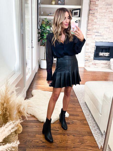 Blouse size Xs, skirt smallest size , size 7 booties   #LTKunder50 #LTKstyletip #LTKunder100