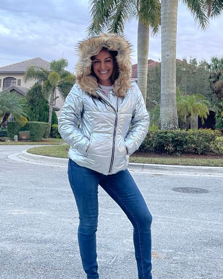 Didn't end up going with this jacket, but may consider a similar look next time!! What do you think of the metallic puffer jackets?! http://liketk.it/36orf #liketkit @liketoknow.it @liketoknow.it.family #LTKtravel #LTKunder100 #LTKfamily Shop my daily looks by following me on the LIKEtoKNOW.it shopping app