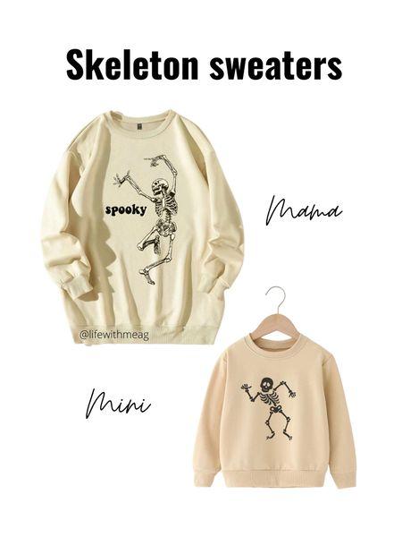 Mama and mini matching skeleton sweaters    #LTKkids #LTKfamily #LTKunder50