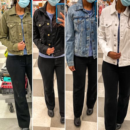 I just went shopping at my favorite discount store! There were a ton of jean jackets and I snagged one for myself!   Check out my links to take a look at what's left. They're bound to be gone very soon so try not to wait.  The old navy ones tend to be a bit too big and too stiff for me…try not to read into that comment there too much.   http://liketk.it/3gDeM #liketkit @liketoknow.it   #LTKsalealert #LTKunder100 #LTKunder50 @liketoknow.it.family Shop my daily looks by following me on the LIKEtoKNOW.it shopping app