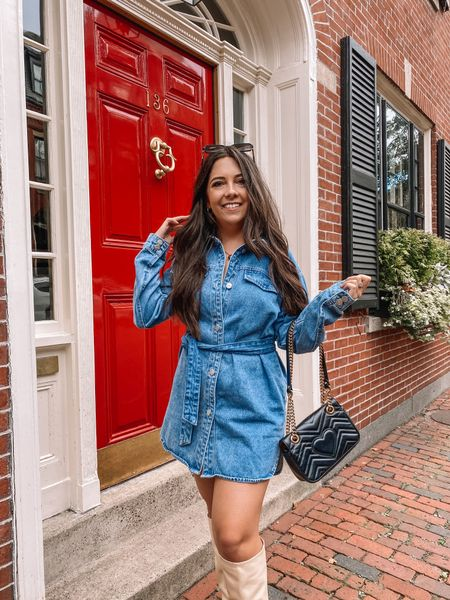 My Boston travel guide is live! Sharing the details on the trip and this fit all on the blog today ✨  My dress is almost sold out, but you can get notified if it's back and in stock and I'm linking a similar ~and less expensive~ too!   #LTKSeasonal #LTKunder100 #LTKstyletip