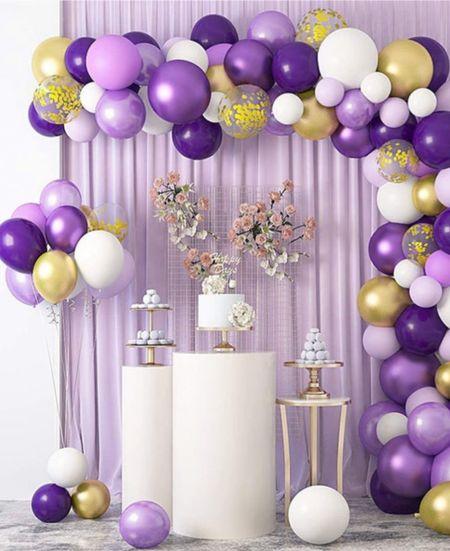 Purple party 🥳  Balloon design by FaithMakeModel shop on Etsy   #LTKwedding #LTKhome #LTKunder50  #LTKhome #LTKunder50 #LTKwedding