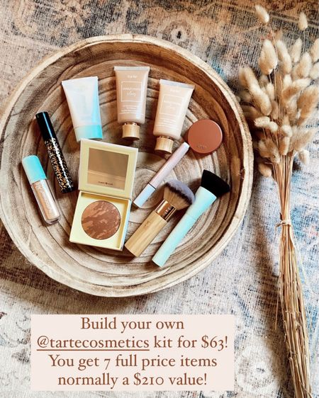Build your own $63 tarte makeup kit today! Pick out 7 full price items - normally a $210 value for only $63! This is a huge deal 🙌🏻💕 http://liketk.it/3hGNa @liketoknow.it #liketkit #LTKbeauty #LTKsalealert #LTKunder100 #mascara #foundation #lipstick