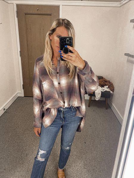 Favorite  NSale Nordstrom  Fall style Button up flannel Cropped jeans from target   #LTKsalealert #LTKSeasonal #LTKunder50