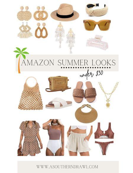 Beach vacation and summer favorites via Amazon finds (all under $30 too!!)   #LTKtravel #LTKswim #LTKunder50