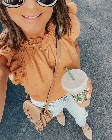 Happy Target Tuesday 🎯 I'm starting my day with some PSL coffee and this cute @targetstyle top. I love this color for the fall 🍂 @liketoknow.it #liketkit #LTKsalealert #LTKunder50 #rStheCon http://liketk.it/2WAYq