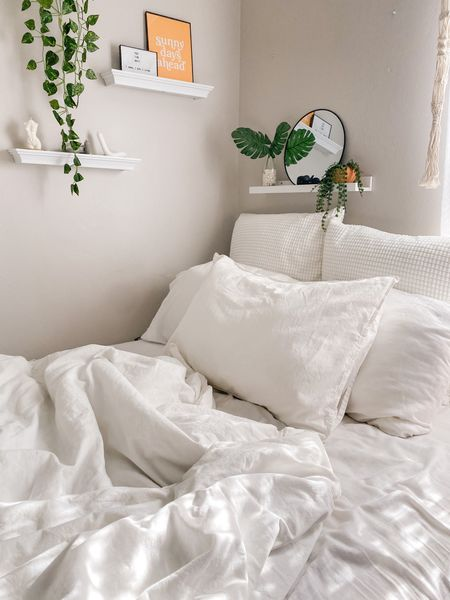 It's hard getting up in the morning with a bed this comfy.   Affordable home decor from Amazon & Etsy, everything under $55!   #LTKDay #LTKhome #LTKstyletip