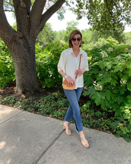 Hope you're having a great week so far. They all kind of run together these days. I'm excited to share this fun ecru blouse from @bashparis . It can be worn so many ways!! Loose and easy for sunmer!! If you explore their website you will find on-trend fashion and lots on sale!! I've linked a few of my faves!  http://liketk.it/2OT8x @liketoknow.it #liketkit #LTKsalealert #LTKstyletip #LTKspring You can instantly shop all of my looks by following me on the LIKEtoKNOW.it shopping app