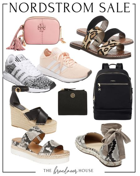 Nordstrom has a great sale going on at Nordstrom right now! I love these shoes and bags! They are really great finds!  Sneakers, Adidas, athletic shoes, workout shoes, slides, animal print, slip on's, Sam Edelman, Tory Burch, tory Burch purse, bag, Tumi backpack, travel, luggage, suitcase, tide, wallet, purse, snakeskin   #LTKitbag #LTKshoecrush #LTKstyletip
