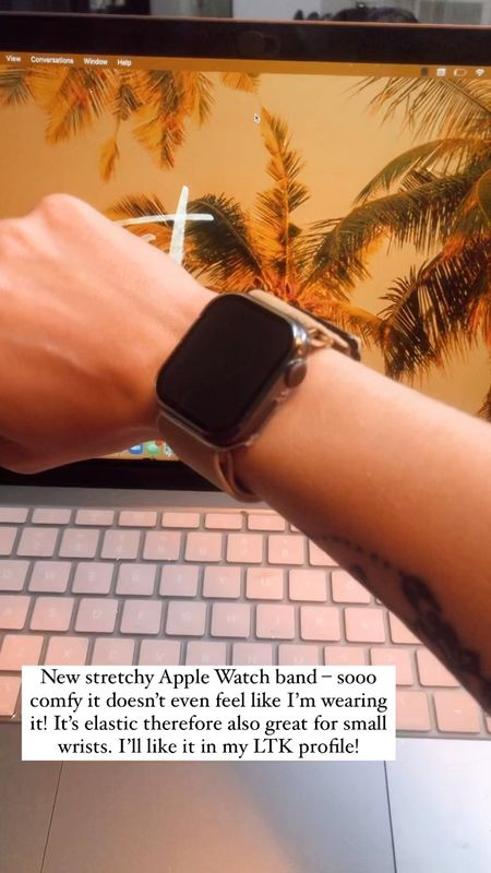 New stretchy Apple Watch band – sooo comfy it doesn't even feel like I'm wearing it! It's elastic therefore also great for small wrists.   #LTKstyletip #LTKunder50 #LTKworkwear