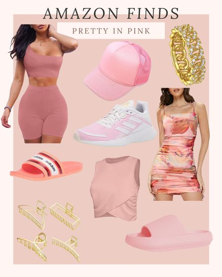 Amazon pink finds #swimwear #activewear #activewearset #athleisure #bag #sandal #sneakers #slide #summershoes #stevemadden #nike #lulus #adidas #bikeshorts #shorts #whitesneakers #summeroutfits #amazonfashion #outfitideas #dresses | cute sneakers | womens activewear | cute activewear | fitness | fit | weightloss | gym wear | gym outfits | workout outfits | travel | airport | travel outfit | airport outfit | comfy | casual | target | target style | amazon | amazon fashion | amazon finds | amazon clothes | outfits | ootd | outfit inspo | summer outfit | summer style | new finds | trend | flat sandals | pool slides | comfy shoes | leggings | cropped leggings | capris | running shorts | bike shorts | cute shorts | denim shorts | casual shorts | date night outfit | vacation outfit | loungewear | loungewear set | pjs | pajamas | matching set | two piece set | coords | sweatpants | joggers | sweatshirt | Crewneck | workout top | activewear top | tank top | crop top | sports bra | longline sports bra | tshirt | graphic tee |band tee | graphic tees | graphic sweatshirts | tie dye | floral | animal print | cheetah print | 4th of July | beach outfit | beach finds | swim | swimsuit | bikini | two piece | high waisted | one piece | cover up | bathing suit | cozy | slippers | Abercrombie | American Eagle | Lululemon | lulus | nasty gal | Nike | Nordstrom | dresses | wedding guest dress | apl | revolve | home decor | organization | home | make up | skincare http://liketk.it/3jiT6  @liketoknow.it #liketkit #LTKswim #LTKtravel #LTKstyletip