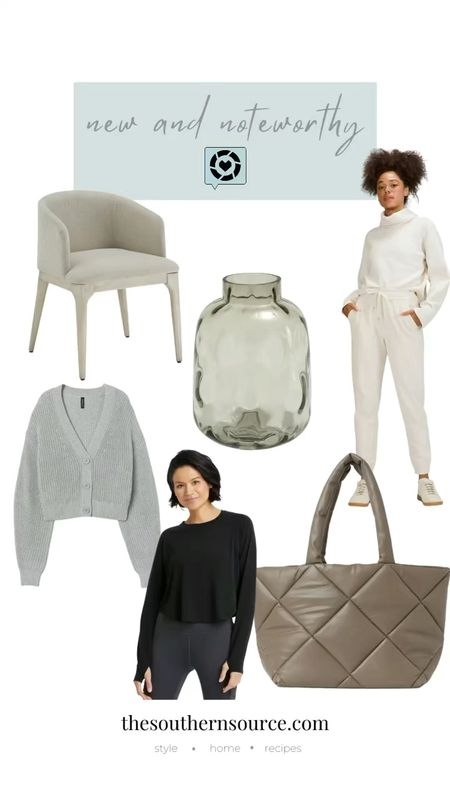 Check out these #FridayFinds : MZ Wallace bag dupe, Jenny Kayne button down grandpa sweater look-a-like, brown glass vase, new ribbed lululemon joggers and a cropped workout top from Target!   #LTKunder100 #LTKunder50 #LTKGiftGuide