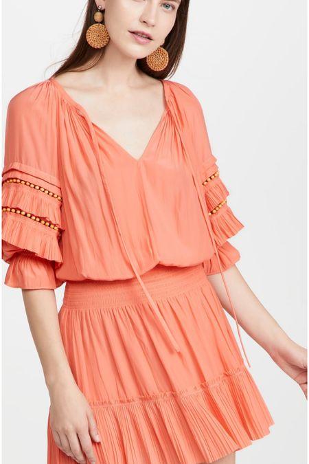 Game day dress. Orange dress. Smocked dress. Wearing size small.   #LTKSeasonal #LTKtravel #LTKstyletip