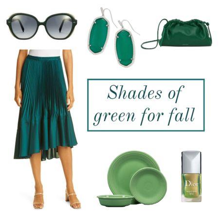 Shades of green for fall 2021 😍😍😍💚💚💚💚  #LTKstyletip #LTKSeasonal #LTKbeauty