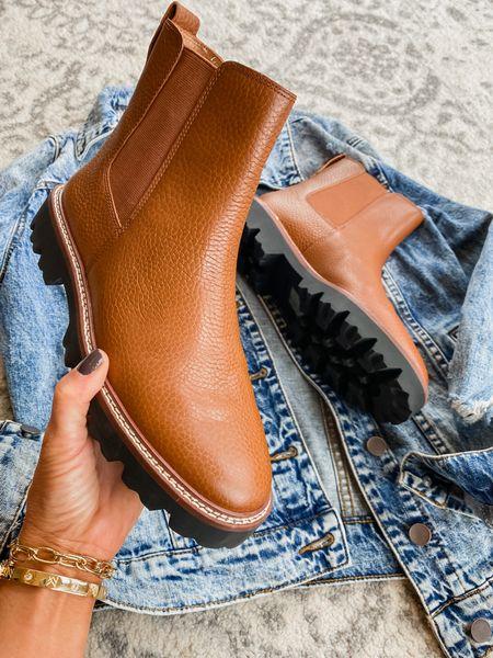 Lugsole Chelsea boot in a pebbled leather.  Also in suede & leopard calf hair.  TTS   #LTKSeasonal #LTKSale #LTKshoecrush