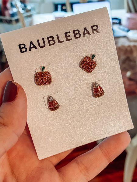 Fall earrings from Baublebar!   #LTKHoliday #LTKunder50 #LTKGifts