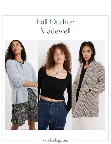 Fall outfits, Work wear, Teacher outfits, Airport outfit, Fall family photos, Cardigan, Cropped cardigan top, Puff jacket, Plaid blazer, LTK Day Sale  Abercrombie  Bellaire Cardigan Sweater ($89.50) Eastover Pocket Tee ($45) Rosseau Square-Neck Crop Cardigan Top ($68) Puffer Blazer ($198)  #LTKunder100 #LTKSale #LTKunder50