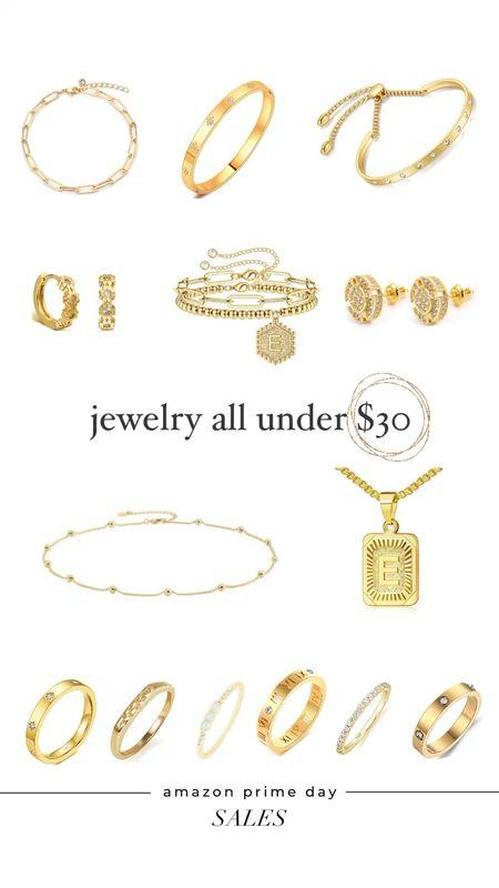 Prime day sale jewelry all under $30. Earrings. Bracelets. Necklaces  #LTKsalealert #LTKunder50 #LTKwedding