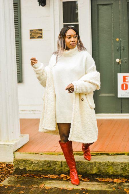 #teddycoat #redboots #sweaterdress #sheingals #sheingal #affordablefinds #affordablefashion #under50 #winterfashion #winterstyles #dresses #coats http://liketk.it/37vTW #liketkit @liketoknow.it #LTKsalealert #LTKstyletip #LTKunder100