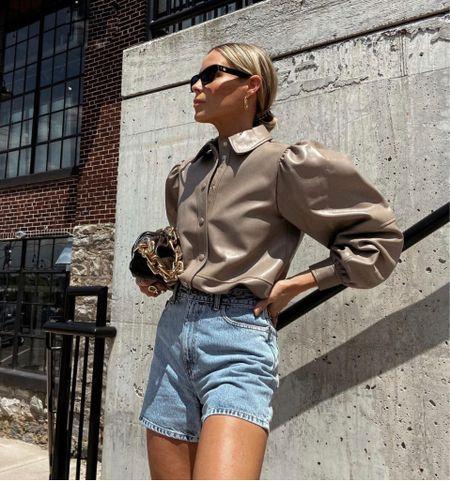 Leather tops🤎🤎  #LTKitbag #LTKbeauty #LTKstyletip