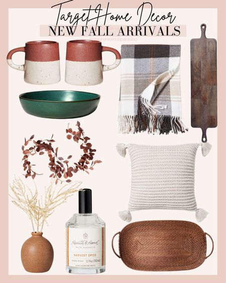 Target home decor, fall decor, magnolia home, kitchen ideas, fall room spray, tray, pillows, target style   #LTKsalealert #LTKhome #LTKunder50